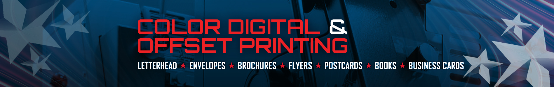 Color Digital and Offset Printing - Letterhead | Envelopes | Brochures | Flyers | Post Cards | Books | Business Cards