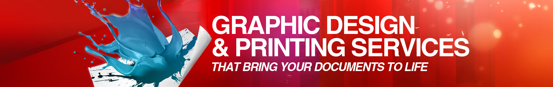 Graphic Design and Printing Services that bring your documents to life